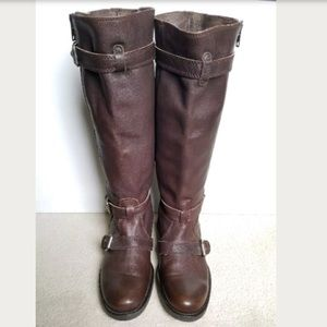 J Crew Miller Motorcycle Boots 11 chocolate